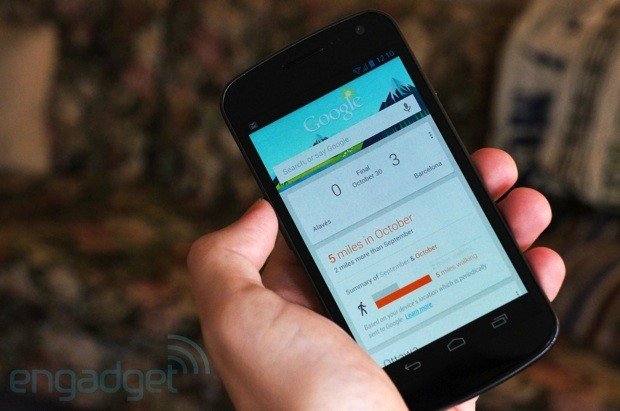 Google Now slips in a pedometer, reminds us we need to get out more