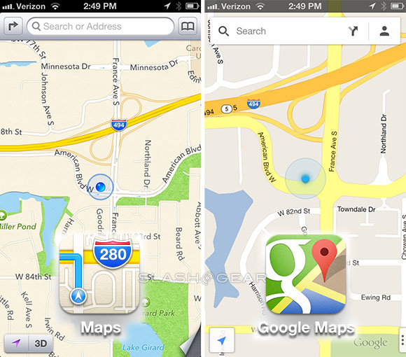 Google Maps vs Apple Maps hands-on to the airport - AIVAnet