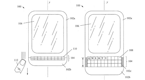 BlackBerry tries for patents on concertinalike keyboards in smartphones