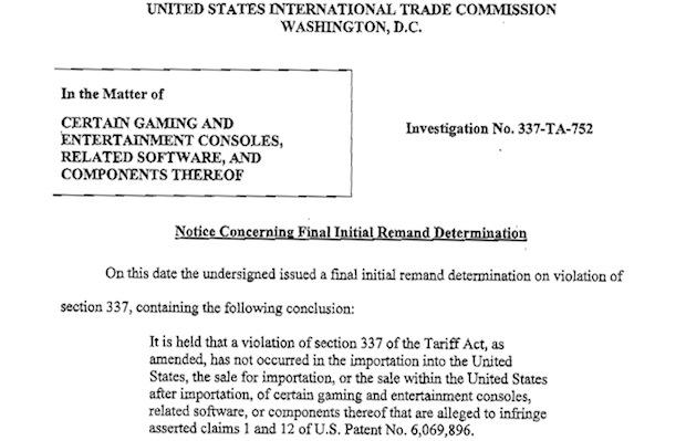 ITC initial determination finds Microsoft doesn't infringe Motorola peertopeer wireless patent