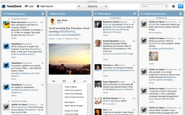 Tweetdeck update for Mac and Windows ushers in column filters