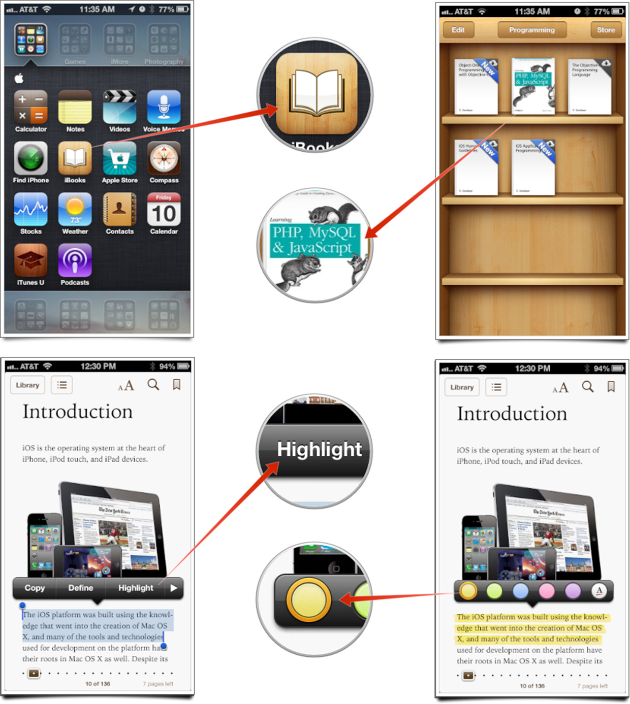 How to highlight and notate books and PDFs with iBooks for