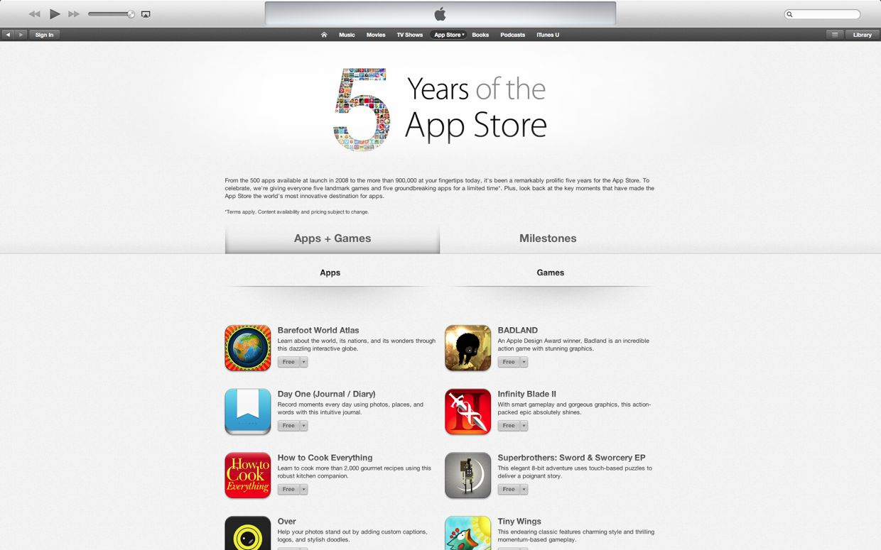 apple store free app of the day