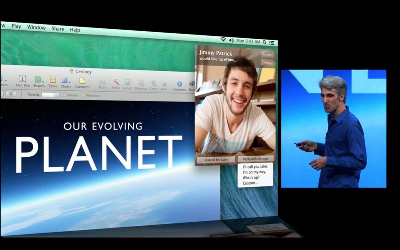 OS X Mavericks Preview: Notifications Facetime