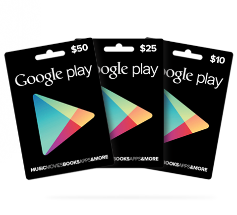 Google Play Gift Cards Australia