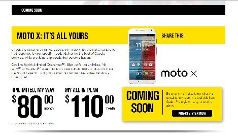 Sprint Moto X My Way Plan