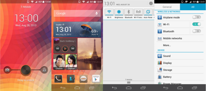 Huawei Ascend P6 interface
