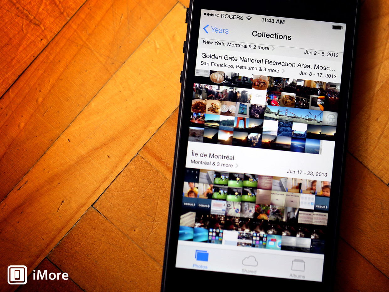 iOS 7: Photos automagically filters your life into collections, moments, and more