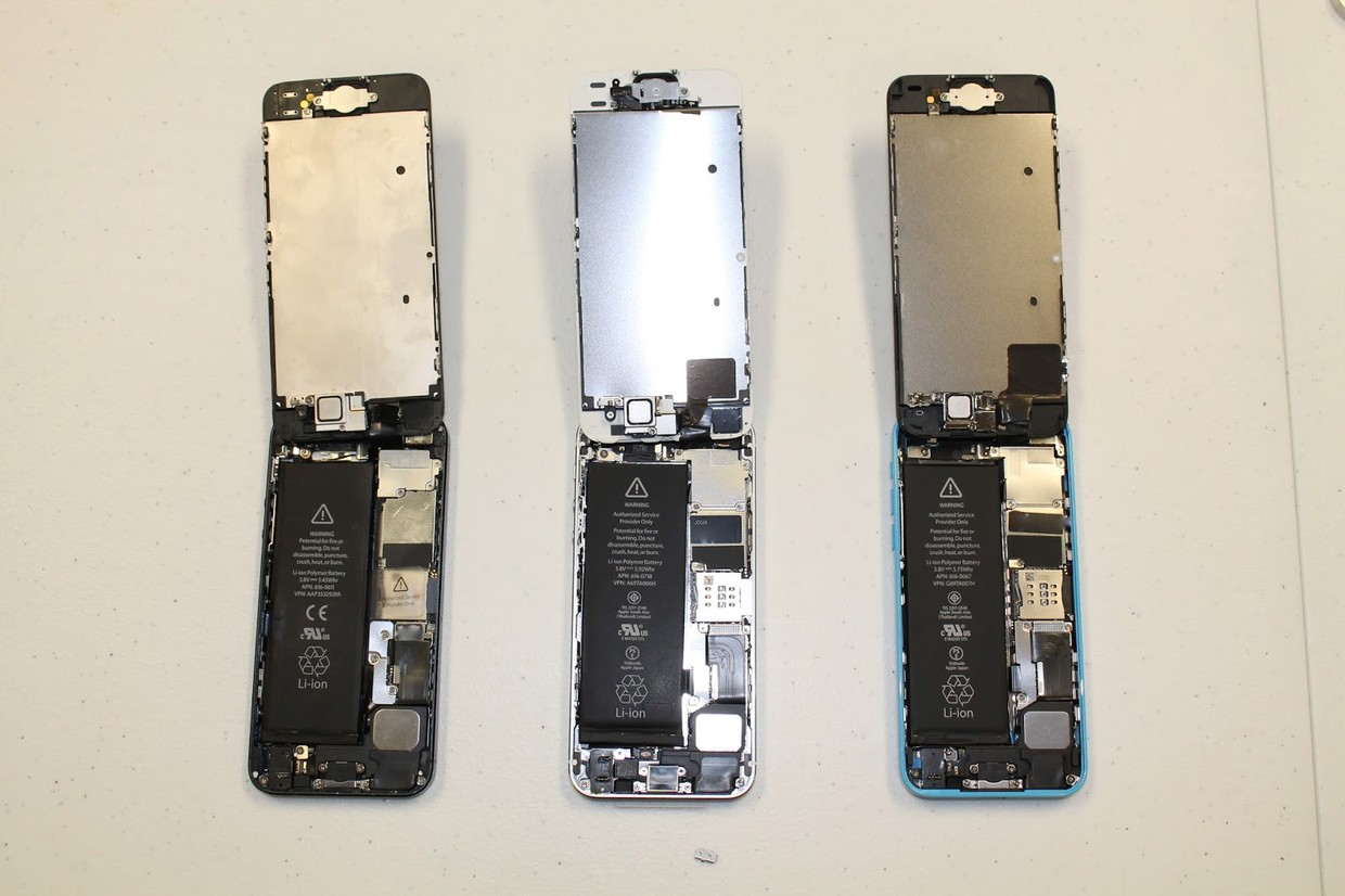 first iphone 5s and iphone 5c teardown   aiva