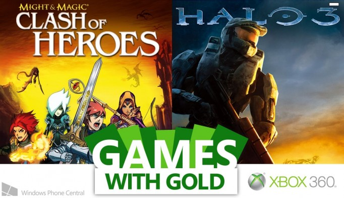 Xbox 360 Games With Gold : Might and magic halo are the xbox games with