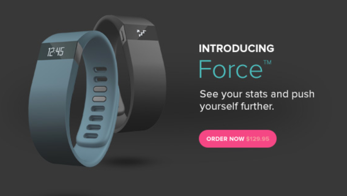 Fitbit Force is a new wearable fitness tracker, with a ...