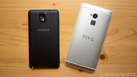 HTC One Max, Galaxy Note 3