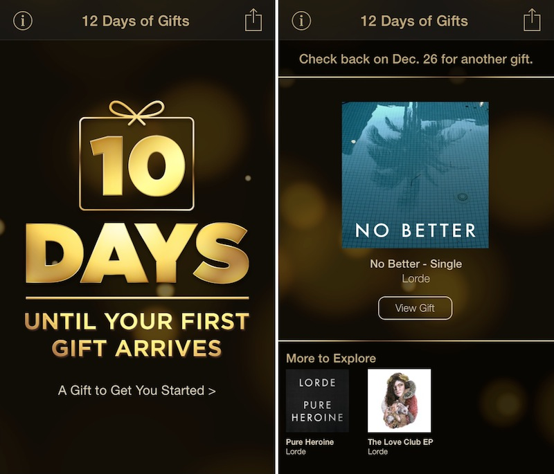 Apple Distributes Lorde-Gift