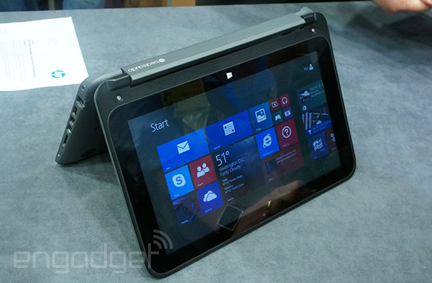 Hands On With Hp S Pavillion X360 Touchscreen Convertible