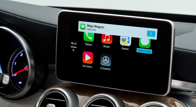 mercedes wants to bring carplay to older vehicles this. Black Bedroom Furniture Sets. Home Design Ideas
