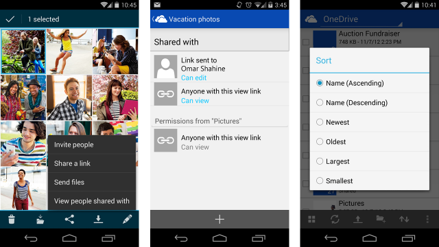 how to move file from android internal storage to onedrive