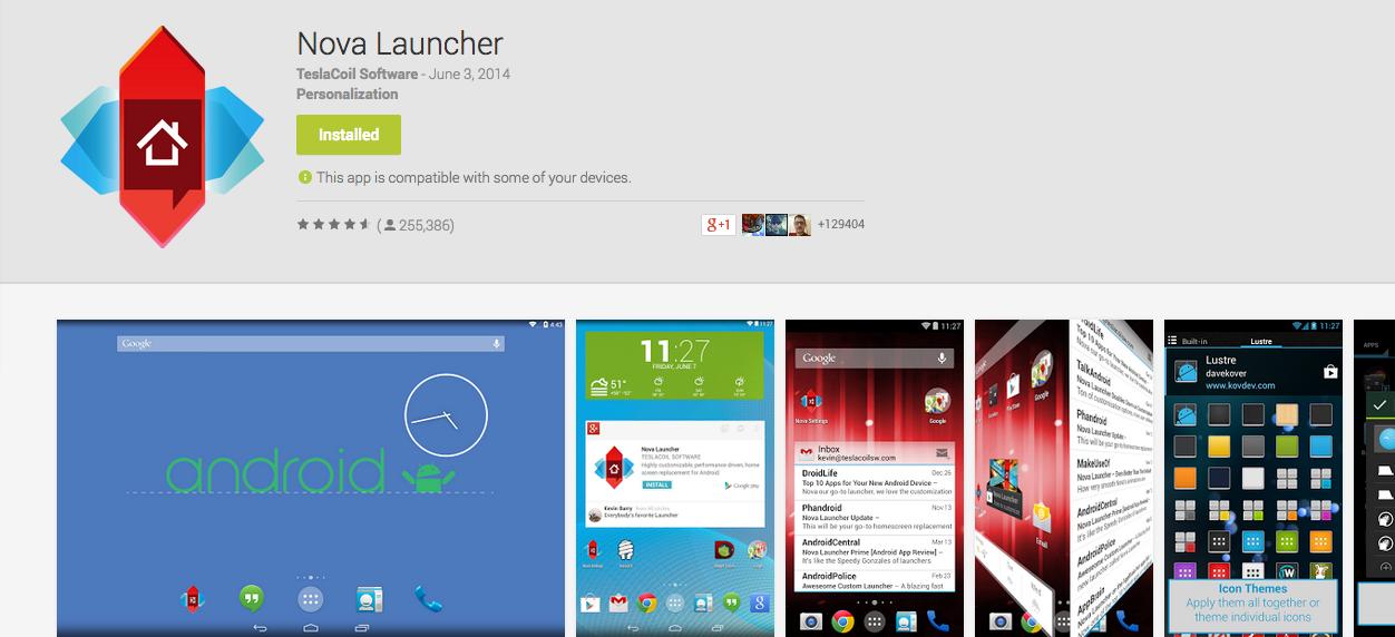 Nova Launcher Gets 'Okay Google'! Google Hangouts Brings
