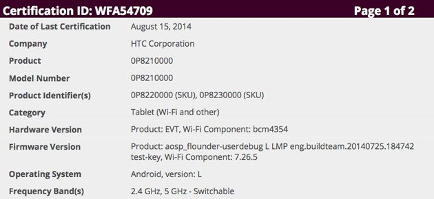 HTC's first tablet in years pops up ina