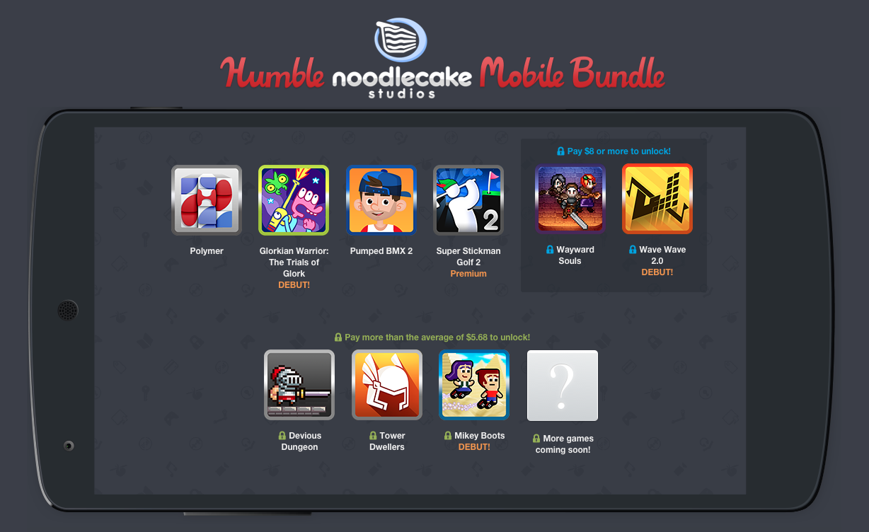 Humble Bundle Pinterest: Humble 'Noodlecake Studios' Mobile Bundle Goes Live With