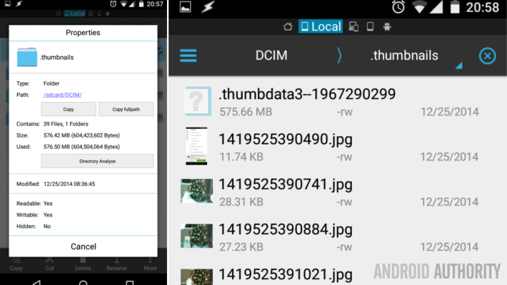 Android photo thumbnail cache