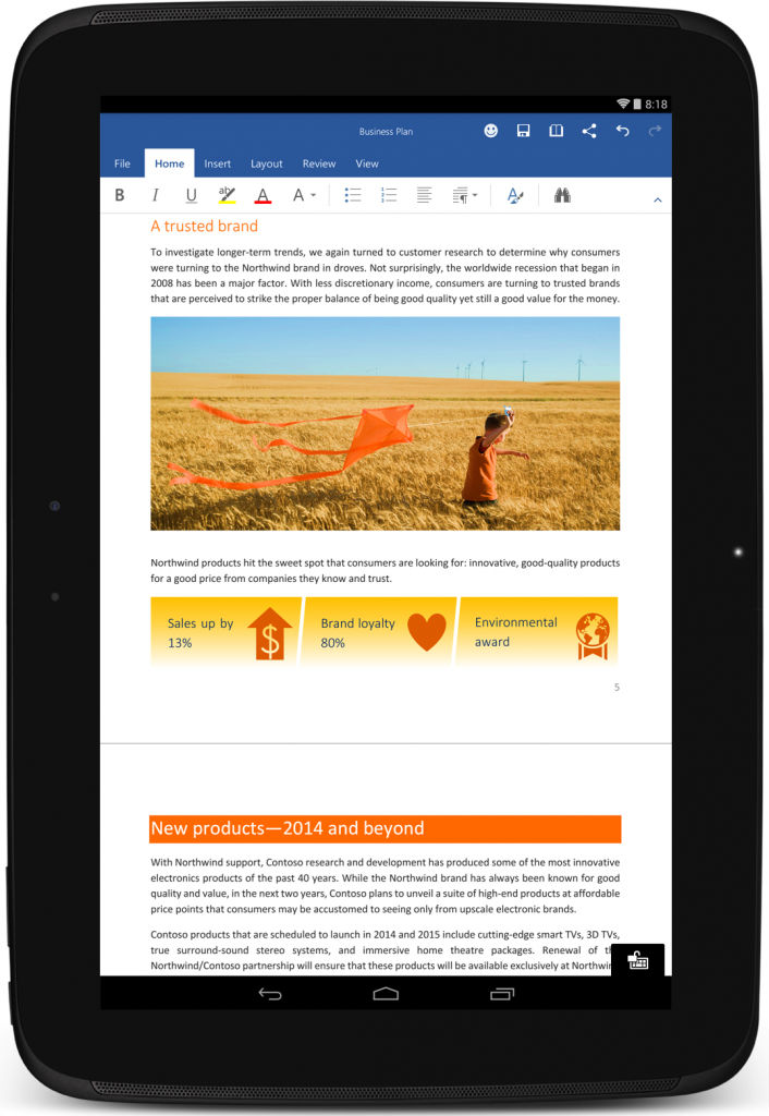 Microsoft Office open to Android Tablet Users - AIVAnet