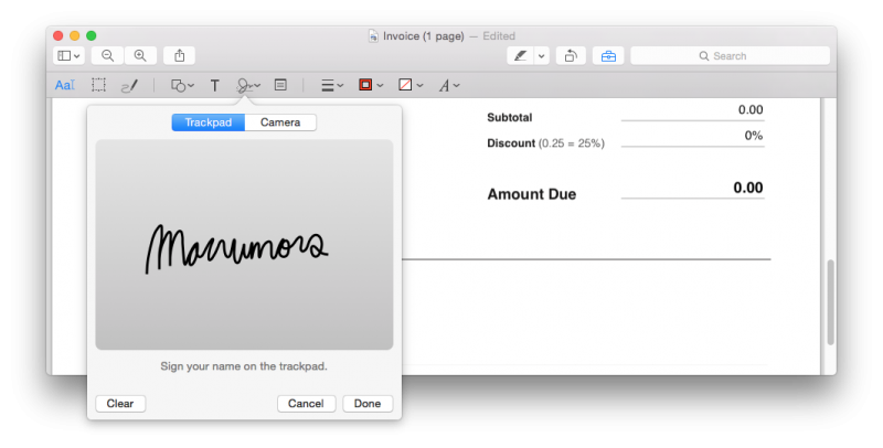 digital signatur mac