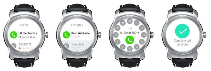 LG Appel pour Android Wear