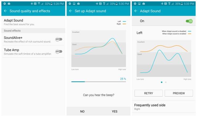 Samsung Galaxy S6 Adapt Sound setup