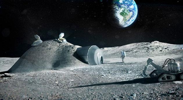 The ESA's 3D-printed Moon habitat concept