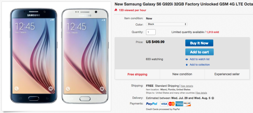 Deal Grab An Unlocked Samsung Galaxy S6 For Only 499 99 On Ebay Aivanet