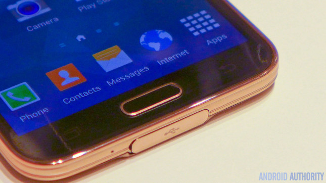 Samsung Galaxy S5 usb flap fingerprint aa 4
