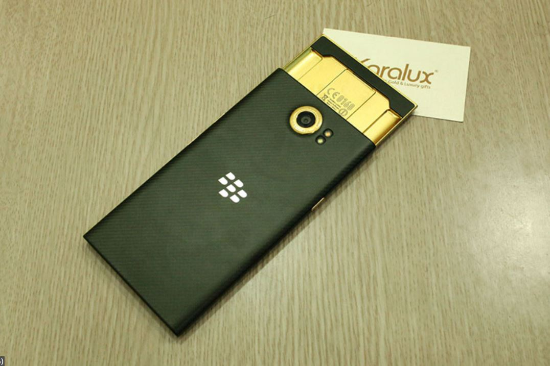 BlackBerry Priv in 24K gold