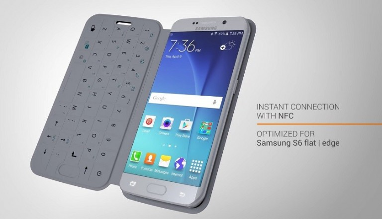 SlimType is a QWERTY keyboard cover for the Samsung Galaxy S6
