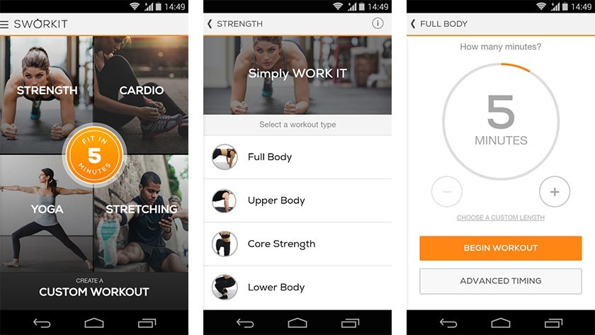 Sworkit Best Android Fitness Apps And Workout