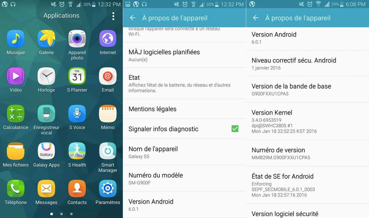 Samsung Galaxy S5 Android 6.0.1 update