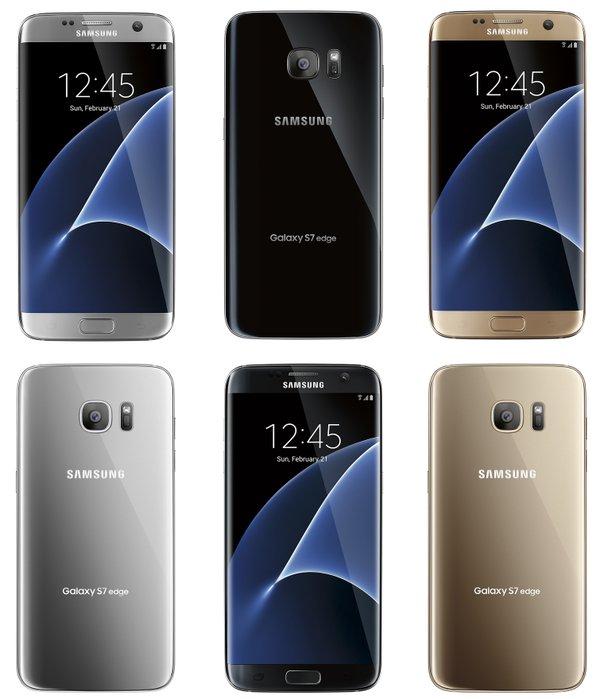 Galaxy S7 edge renders