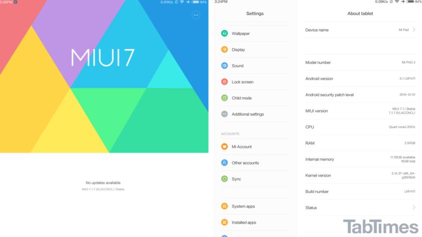 Xiaomi MiPad 2 MIUI