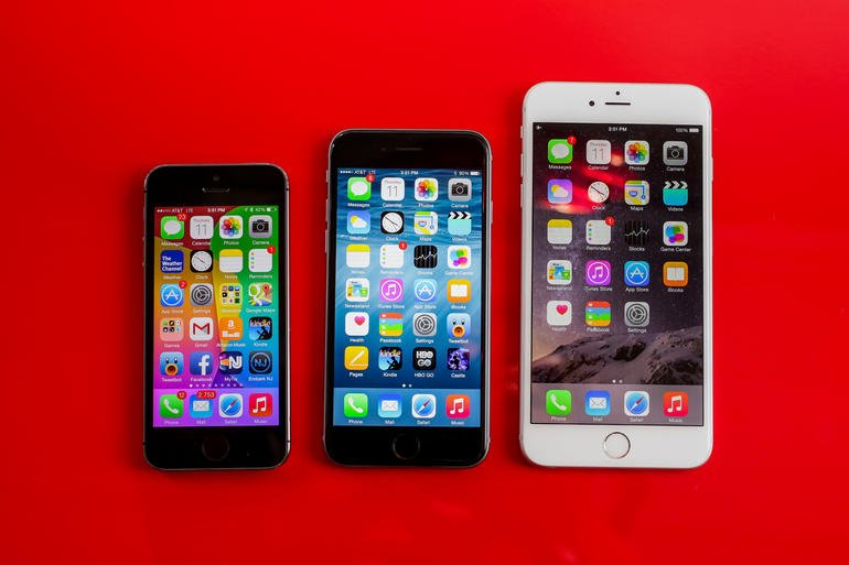 Expect The IPhone 6C To Keep Same 4 Inch Screen As 5S Far Left 6 47 Is Center And Plus 55
