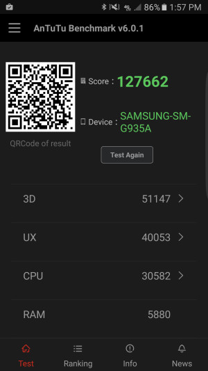 Galaxy S7 Edge - Antutu