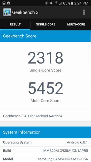Galaxy S7 Edge - Geekbench
