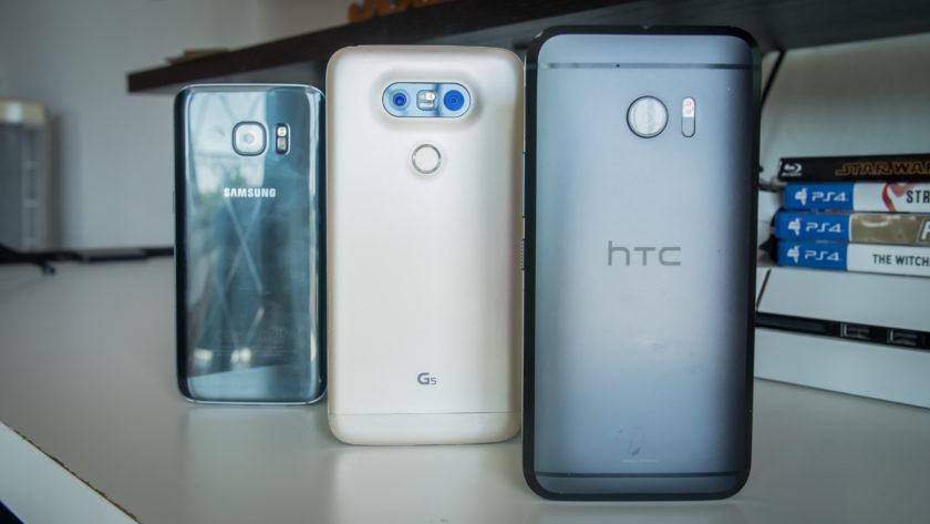 HTC 10 vs Samsung Galaxy S7 / Edge vs LG G5