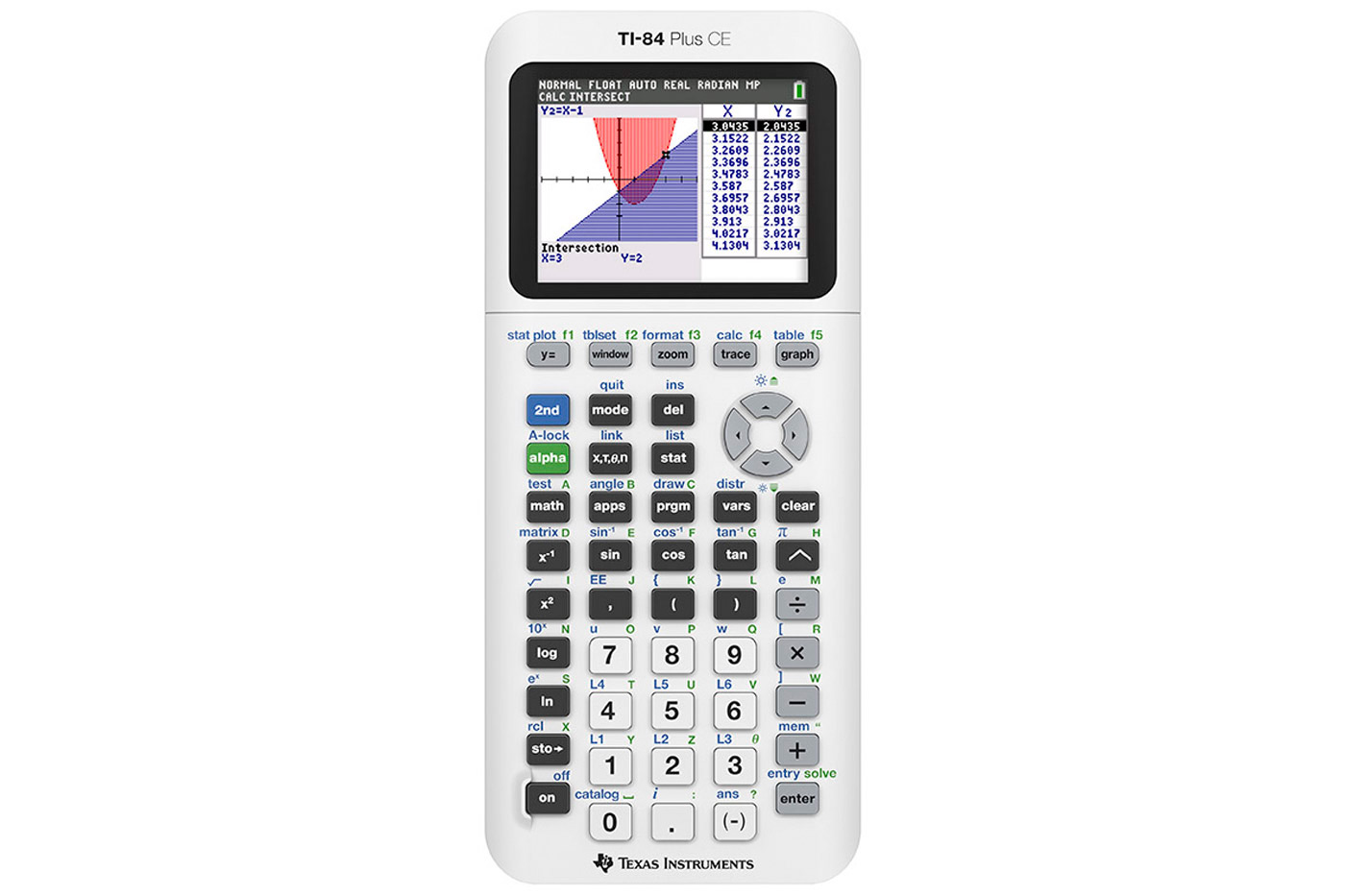TI-84 Plus CE in Bright White