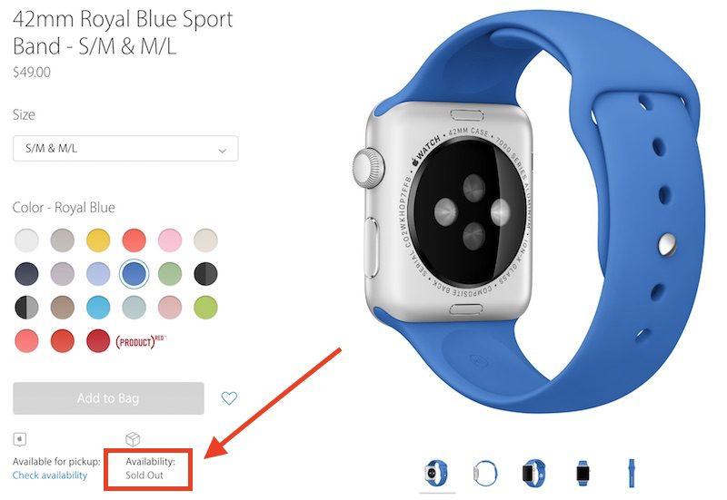 apple watch stock shortage
