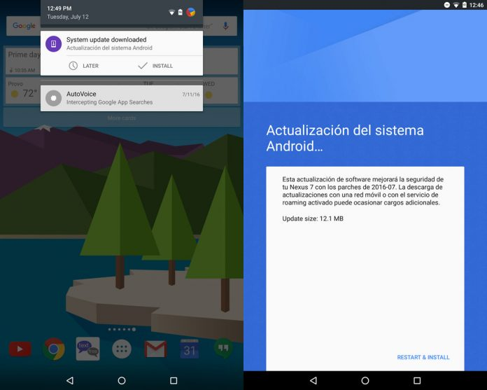 Seeing a Spanish update message on the Nexus 7 (2013)? Don't install it just yet
