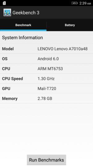 Lenovo K4 Note screenshot - benchmark