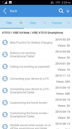 Lenovo K4 Note screenshot - software-14