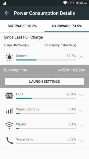 Lenovo K4 Note screenshot - software - battery-4