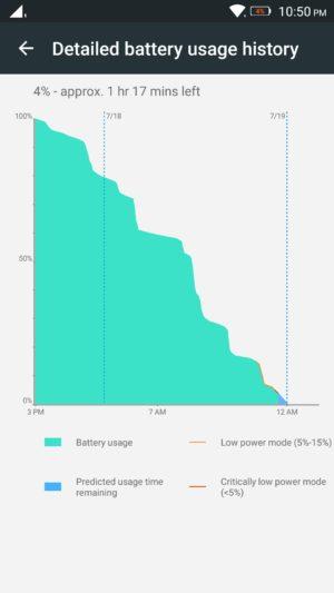 Lenovo K4 Note screenshot - battery