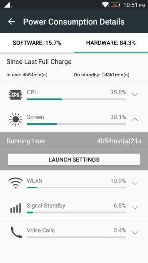 Lenovo K4 Note screenshot - battery-2