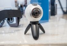 You can buy the Samsung Gear 360 camera at the Lollapalooza music festival